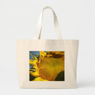 Sunflower and Bee Large Tote Bag