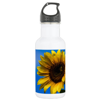 Sunflower and bee stainless steel water bottle