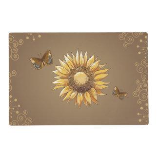 Sunflower and Butterflies Floral Vintage Elegant Placemat