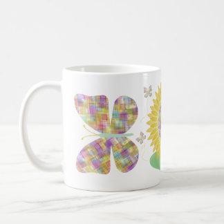 Sunflower and Butterflies Mug Design