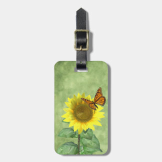 Sunflower and Butterfly Bag Tags