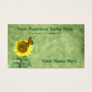 Sunflower and Butterfly Business Card