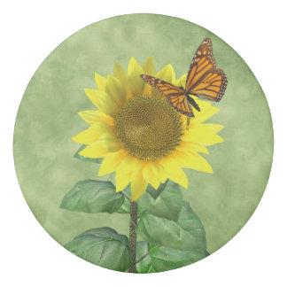 Sunflower and Butterfly Eraser