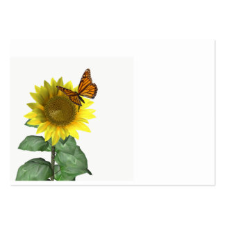 Sunflower and Butterfly Large Business Card