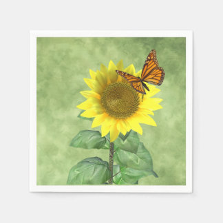 Sunflower and Butterfly Napkin