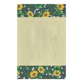 Sunflower and Chamomile Natural Thought Stationery