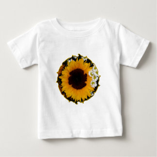 """Sunflower and Daisies """"Curlicue"""" Special Effect Baby T-Shirt"""