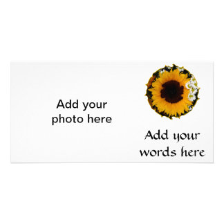 """Sunflower and Daisies """"Curlicue"""" Special Effect Card"""
