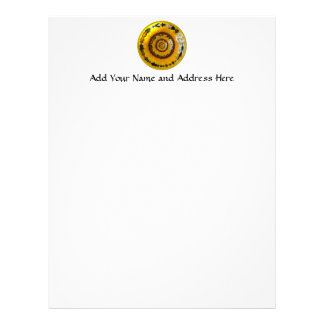 Sunflower and Daisies Under Glass Letterhead