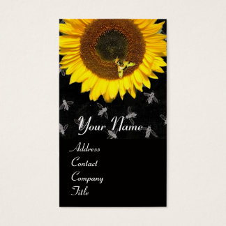 SUNFLOWER AND HONEY BEE ,BEEKEEPING, BEEKEPER BUSINESS CARD