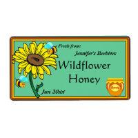 Sunflower and Honey Pot Label