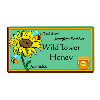 Sunflower and Honey Pot Label