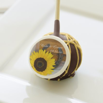 Sunflower and Horseshoe Country Wedding Cake Pops Cake Pops