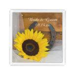 Sunflower and Horseshoe Western Wedding Acrylic Tray