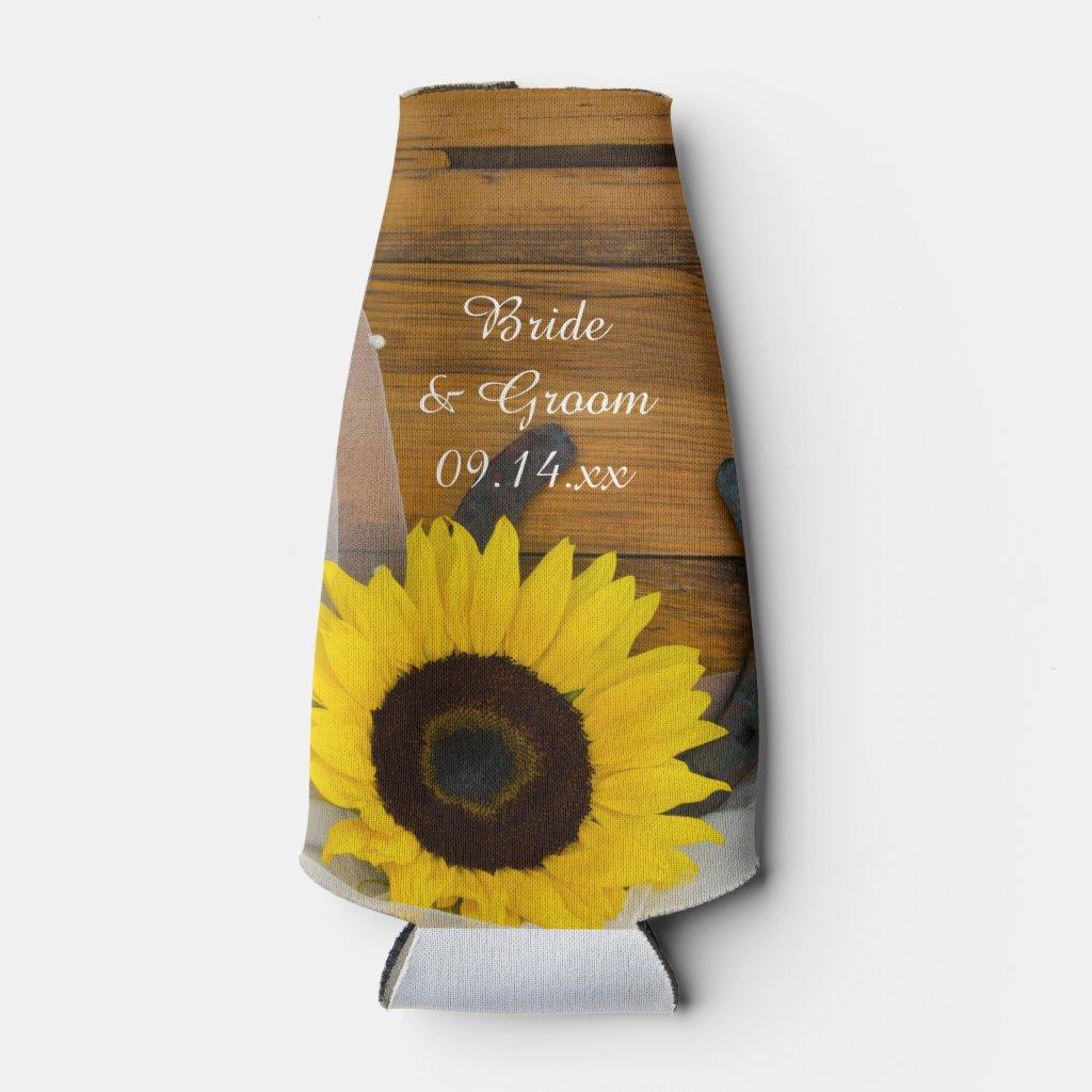 Sunflower and Horseshoe Western Wedding Favor