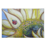 Sunflower and Ladybug Cloth Placemat