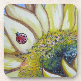 Sunflower and Ladybug Coaster