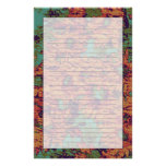 Sunflower and leaf camouflage pattern on stationery