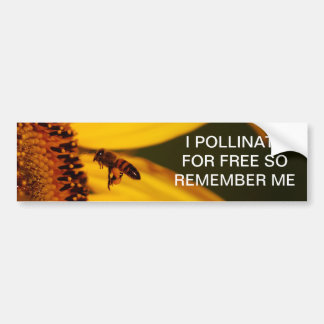 Sunflower and meaning car bumper sticker