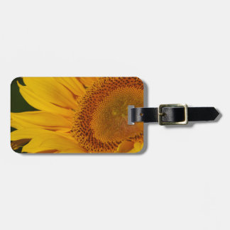 Sunflower and meaning tag for luggage