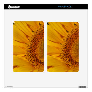 Sunflower and meaning skin for kindle fire