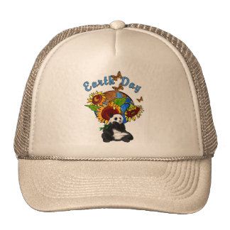 Sunflower and Panda Earth Hat