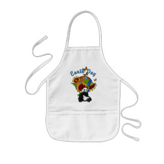 Sunflower and Panda Earth Kids' Apron