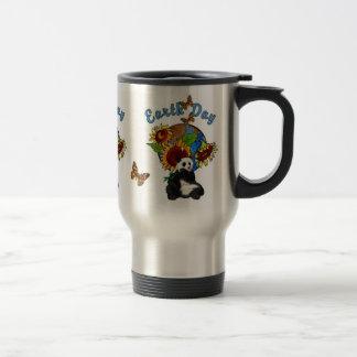 Sunflower and Panda Earth Travel Mug