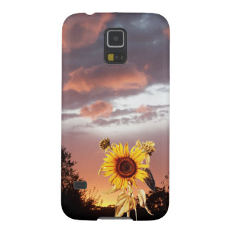 SUNFLOWER AND PINK SUMMER SUNSET GALAXY S5 CASE