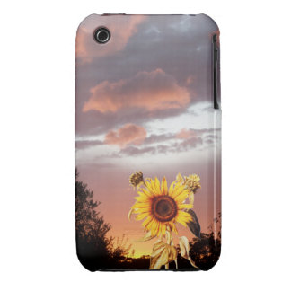 SUNFLOWER AND PINK SUMMER SUNSET iPhone 3 COVER