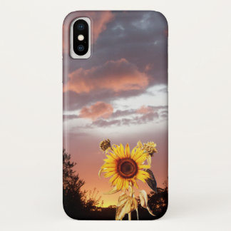 SUNFLOWER AND PINK SUMMER SUNSET iPhone X CASE