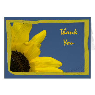 Sunflower and Sky Thank You Card