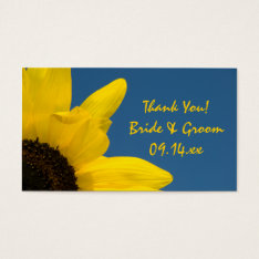 Sunflower And Sky Wedding Favor Tags at Zazzle