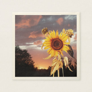 SUNFLOWER AND SUMMER SUNSET NAPKIN