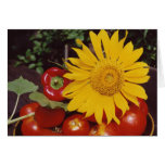 Sunflower and Vegetables - Tomatoes, Red Peppers Card