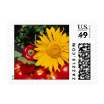 Sunflower and Vegetables - Tomatoes, Red Peppers Postage