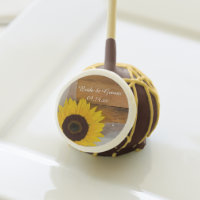 Sunflower and Veil Country Wedding Cake Pops