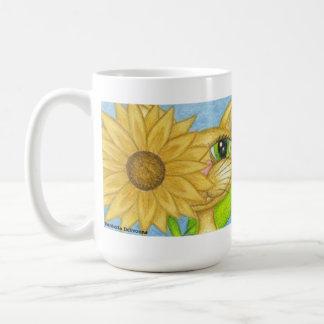 Sunflower, Anime Fantsy Fariy Kitty Coffee Mug