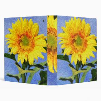 Sunflower Art 3 Ring Binder