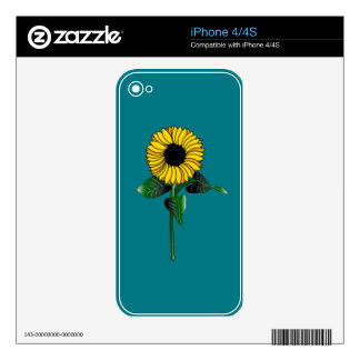 SunFlower Art NOW on iPhone 4 Skin