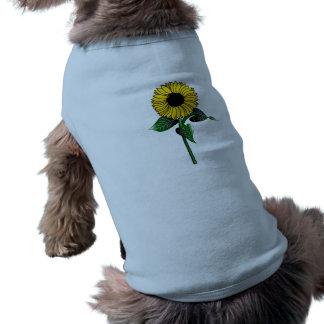 SunFlower Art on Doggie Tee