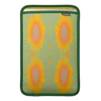 Sunflower Art on Green Sleeves For MacBook Air