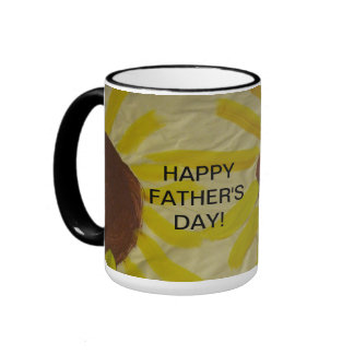 Sunflower Art Painting Happy Father's Day Mug