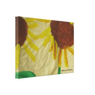 Sunflower Art Wrapped Canvas Gallery Wrap Canvas