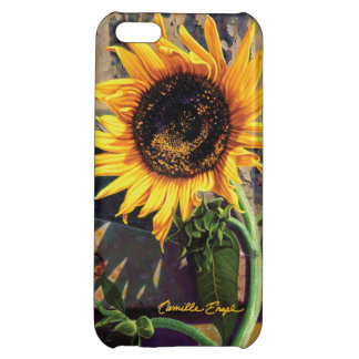 """Sunflower at the Old Factory"" by Camille Engel iPhone 5C Cases"