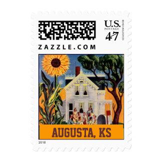 Sunflower Augusta Kansas Front Porch Rural Stamps