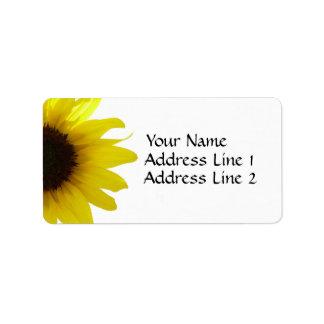Sunflower Avery Address Label