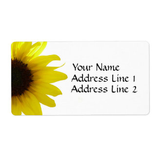 Sunflower Avery Shipping Label