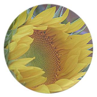 Sunflower Awakening Melamine Plate