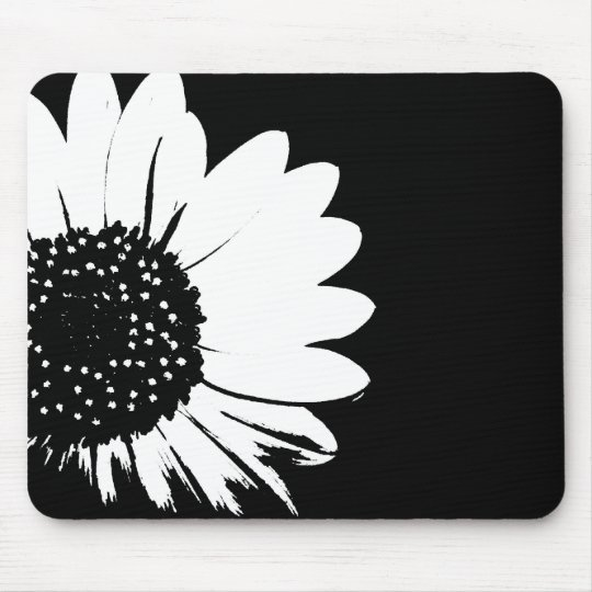 Sunflower B&W Mouse Pad